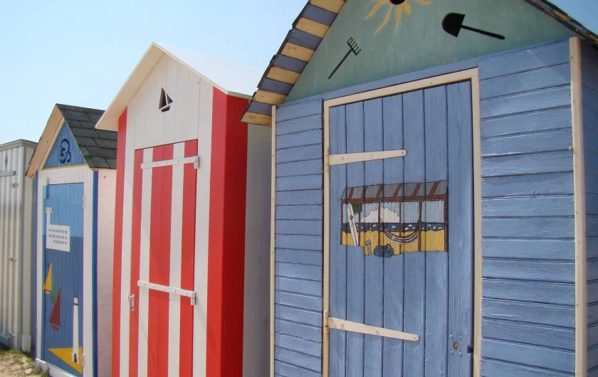 Location de vacances - Villa à Saint-Denis-d'Oléron - Les cabines de la plage de Saint-Denis