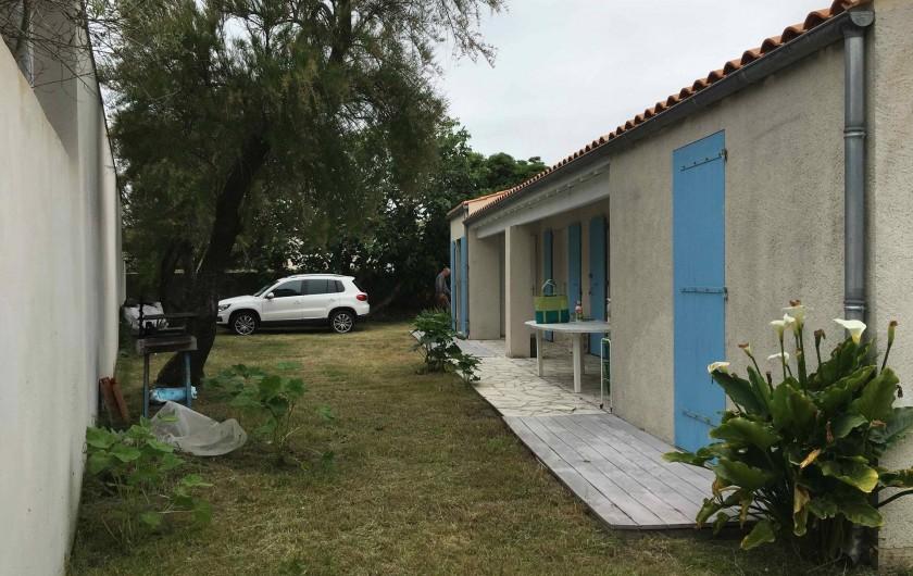 Location de vacances - Villa à Saint-Denis-d'Oléron - Façade ouest, lieu de vie