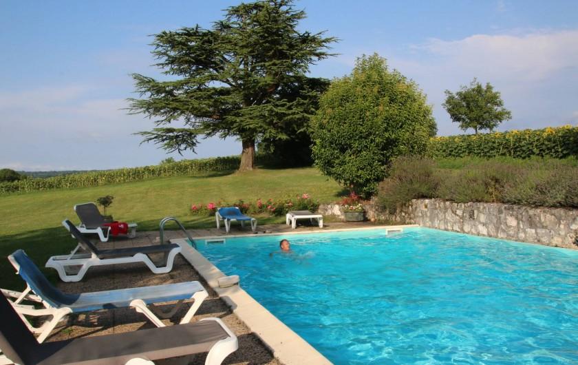 Location de vacances - Maison - Villa à Montagnac-sur-Lède - Piscine