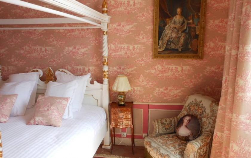 Location de vacances - Chambre d'hôtes à Bailleau-Armenonville - Chambre Marquise de Pompadour de la suite des Favorites