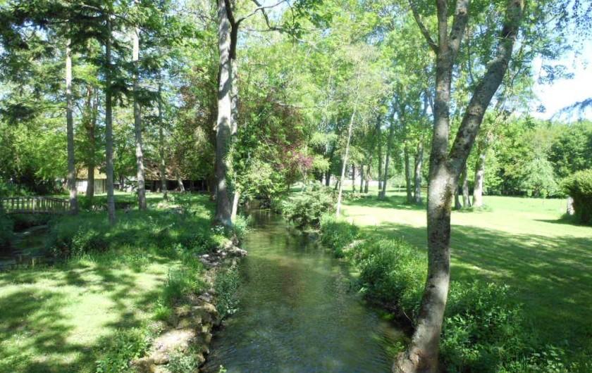 Location de vacances - Chambre d'hôtes à Bailleau-Armenonville - Rivière traversant le parc