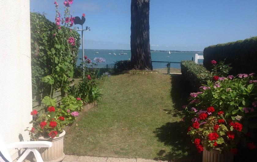 Location de vacances - Appartement à Damgan - Vue en front de mer depuis l'appartement