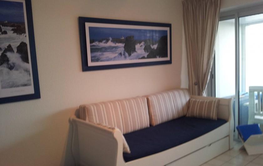 Location de vacances - Appartement à Damgan - Lit gigogne dans le salon