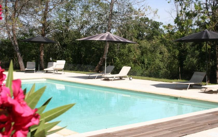 Location de vacances - Mas à Goudargues - Piscine de 6X12