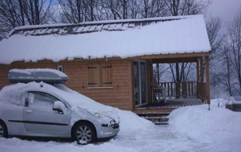 Location de vacances - Chalet à La Toussuire - Le chalet en hivers