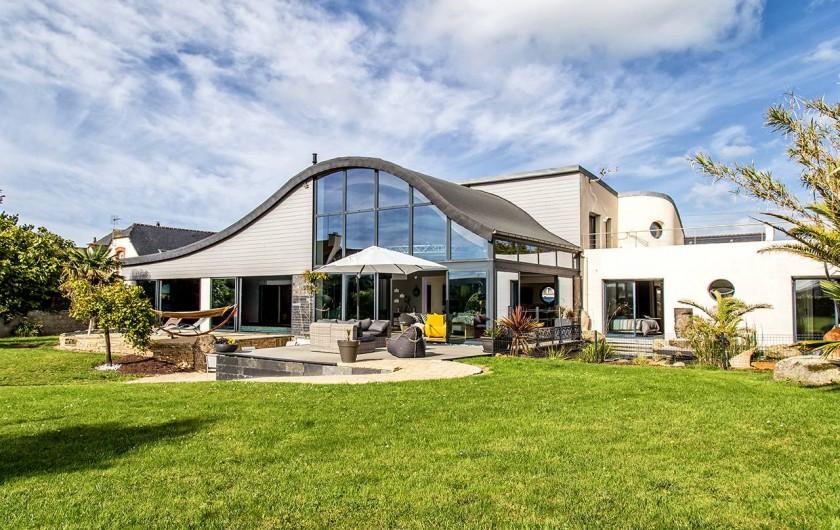 Location de vacances - Villa à Santec - villa et jardin paysage