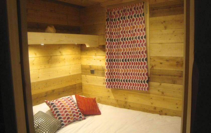 Location de vacances - Appartement à Valmorel - Chambre parents