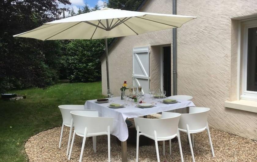 Location de vacances - Maison - Villa à Fondettes - repas extérieur