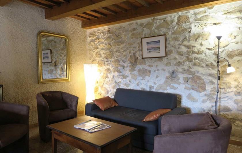 Location de vacances - Mas à Esparron-de-Verdon - Salon