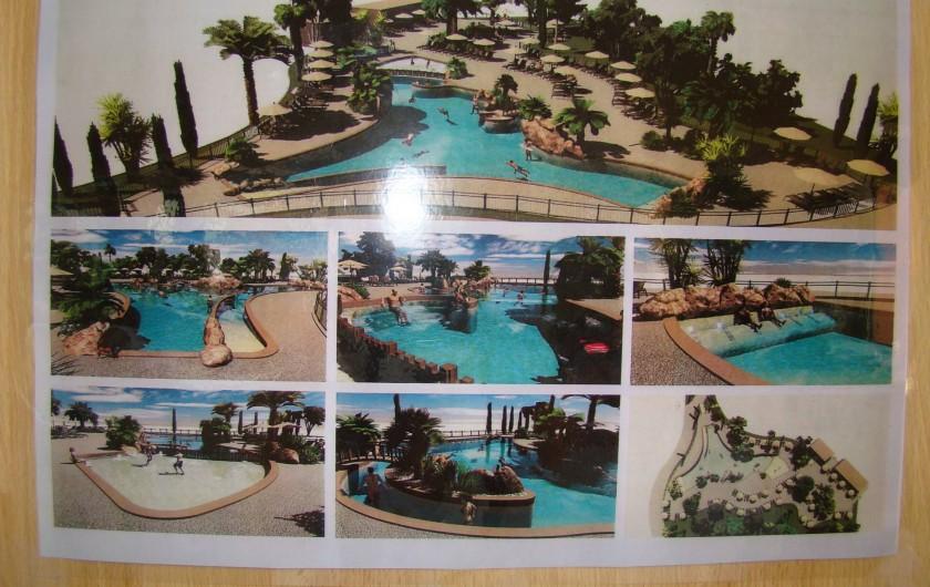 Location de vacances - Bungalow - Mobilhome à Saint-Aygulf - complexe aquatique dans le camping  4 étoiles.