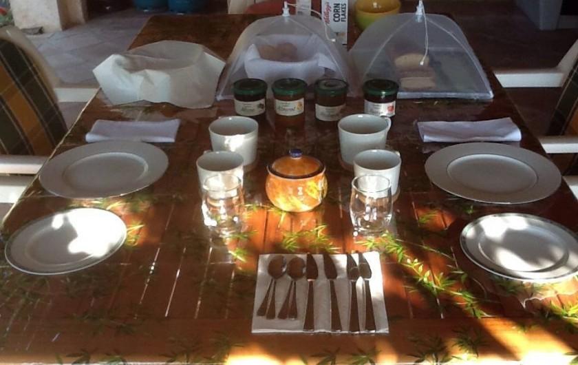 Location de vacances - Chambre d'hôtes à Bargemon - Table petit déjeuner