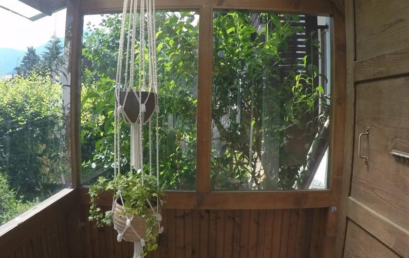 Location de vacances - Chalet à Samoëns - patio