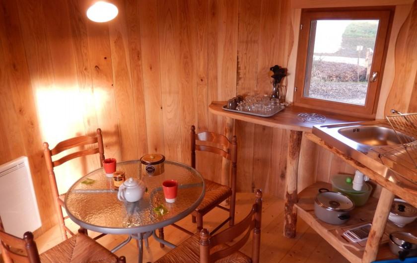 Location de vacances - Insolite à Pressac - cuisine du lodge