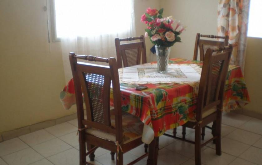 Location de vacances - Appartement à Les Anses-d'Arlet - Salle à manger