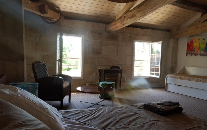 Location de vacances - Chambre d'hôtes à Laruscade - Chambre Canopée