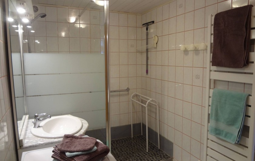 Location de vacances - Gîte à Orbey - La salle de bain avec douche à l'italienne.