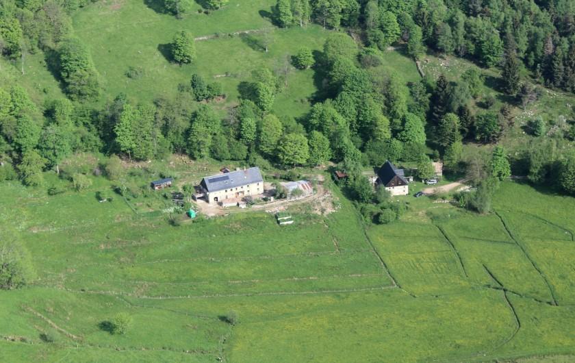 Location de vacances - Gîte à Orbey - Vu du ciel.