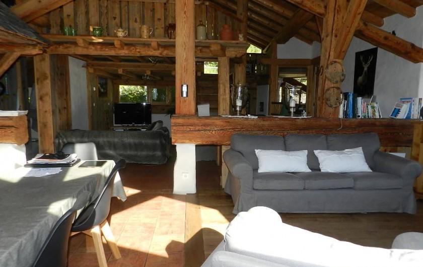 Location de vacances - Chalet à Bourg-Saint-Maurice - Salle à manger-salon