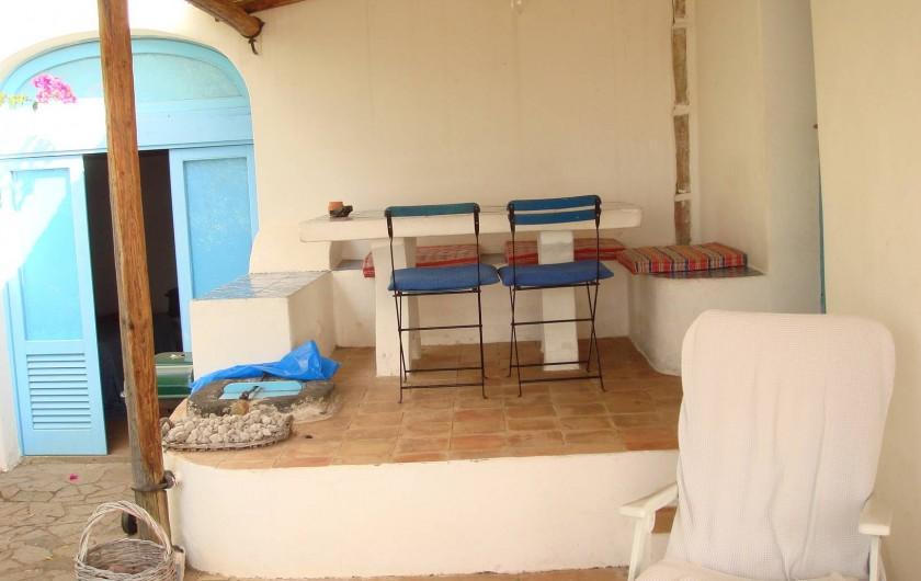 Location de vacances - Chalet à Lingua - Un coin de la terrasse