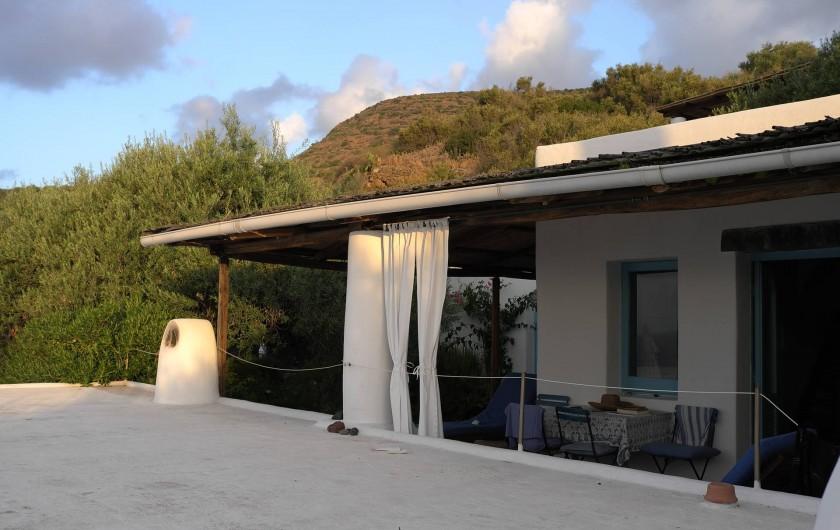 Location de vacances - Chalet à Lingua - Terrasse extérieure