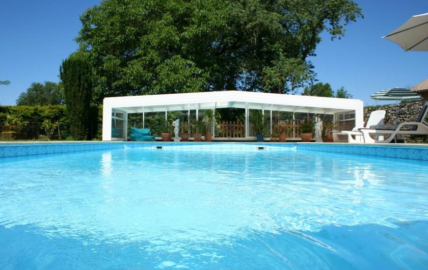 Location de vacances - Gîte à Saint-Vincent-sur-l'Isle - La piscine ouverte