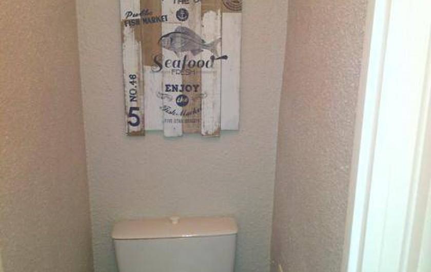 Location de vacances - Studio à Le Cap d'Agde - Les WC séparés