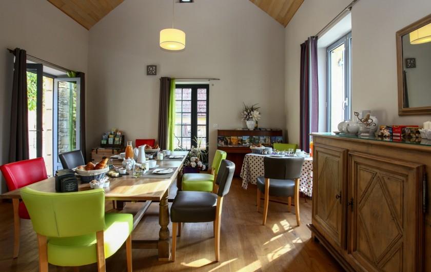 Location de vacances - Chambre d'hôtes à Carsac-Aillac - Une vue sur les chambres.