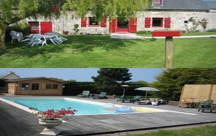 Location de vacances - Villa à Pléneuf-Val-André - Longère et Piscine chauffée