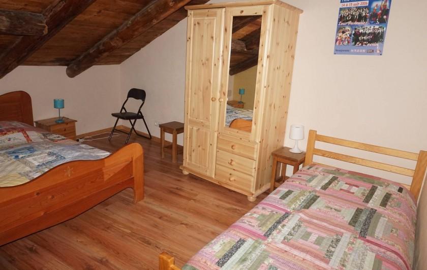 Location de vacances - Appartement à Aussois - chambre avec 1 lit 2 places et 1 lit place