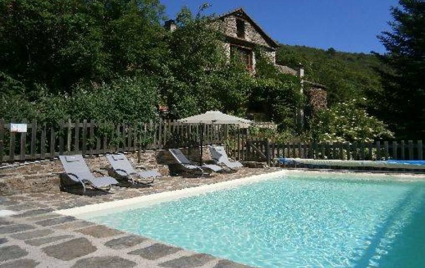 Location de vacances - Gîte à Sablières - la piscine