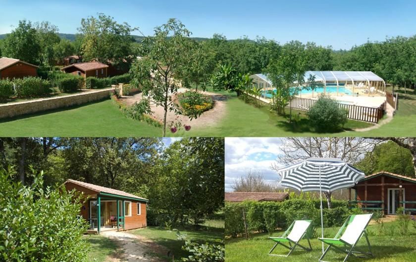 Location de vacances - Chalet à Sarlat-la-Canéda - Vue du domaine Chalet La Noyeraie