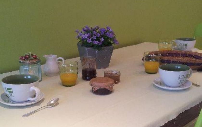 Location de vacances - Gîte à Châtel-Guyon - Petit déjeuner avec pain de mie et confitures maison, pain frais du boulanger...