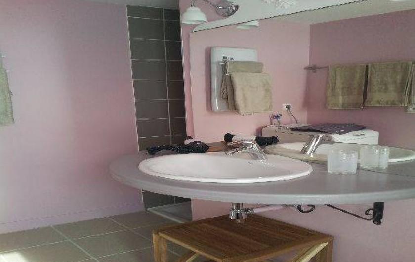 Location de vacances - Gîte à Châtel-Guyon - Salle de bain avec machine à laver