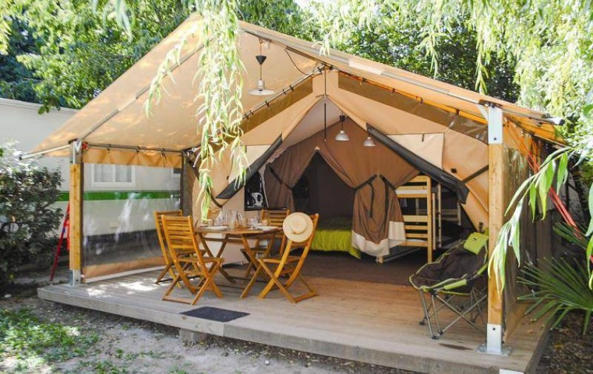 Location de vacances - Bungalow - Mobilhome à Palau-del-Vidre - Bungalow Toilé 5 pers