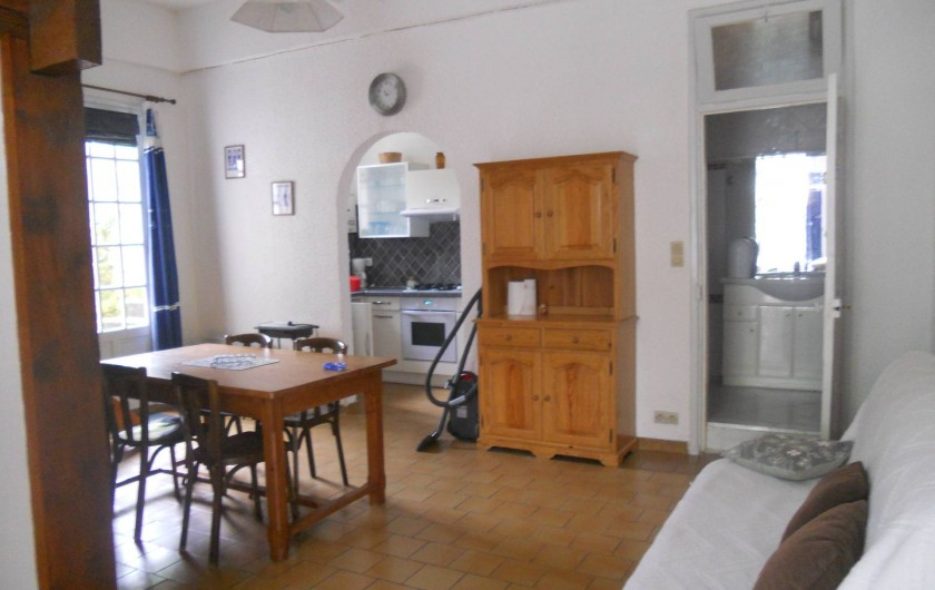 Location de vacances - Villa à Arcachon - salon salle à manger appartement bas