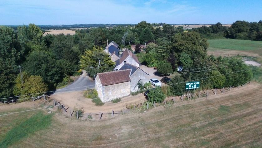 vue de aérienne de la propriété