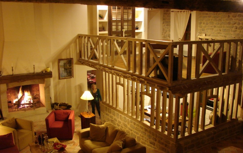 Location de vacances - Gîte à Ambazac - le salon en hiver... autour du feu de bois il fait bon vivre...