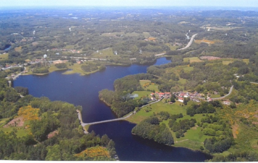 Location de vacances - Gîte à Ambazac - Chabanne en vue aérienne