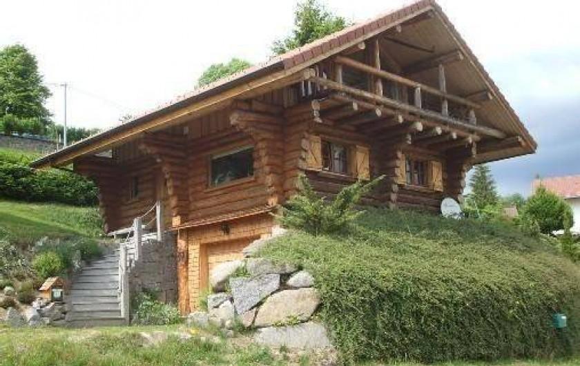 Location de vacances - Chalet à La Bresse - Chalet en  été