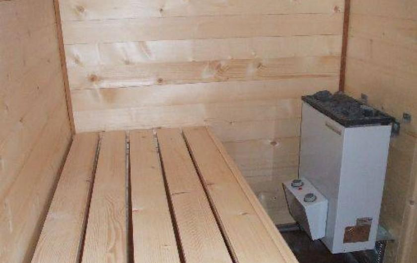 Location de vacances - Chalet à La Bresse - Sauna avec douche