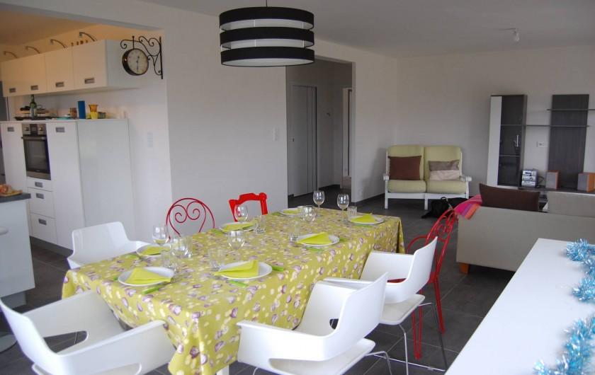 Location de vacances - Villa à Plouguerneau - Espace salle à manger