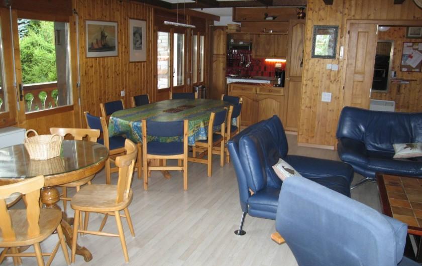 Location de vacances - Appartement à Verbier - Living
