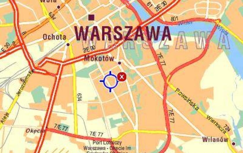 Location de vacances - Appartement à Varsovie - Localisation à Varsovie