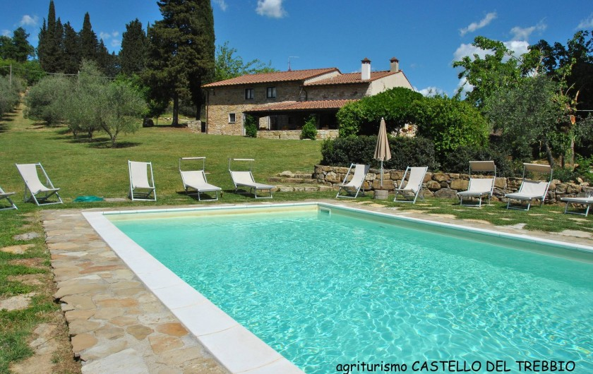 Location de vacances - Villa à Santa Brigida - Pool of villa Faltignano