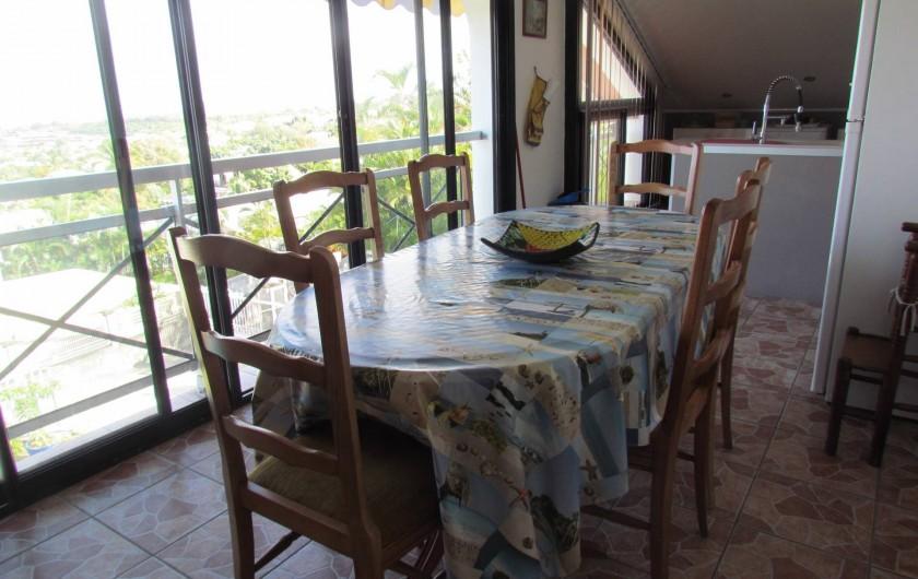 Location de vacances - Villa à Saint-Paul - coin repas