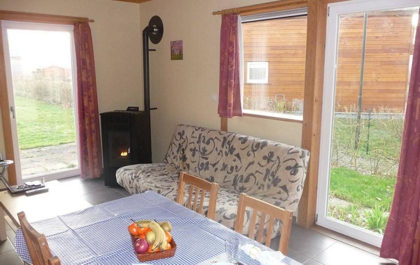Location de vacances - Bungalow - Mobilhome à Froidchapelle - salon