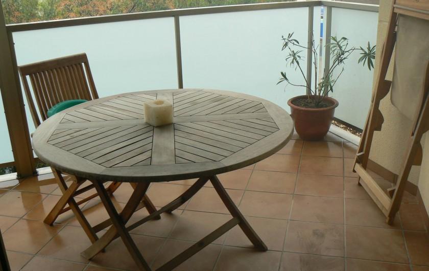 Location de vacances - Appartement à Sant Carles de la Ràpita - belle et grande terrasse pouvant acueillir 6 personnes