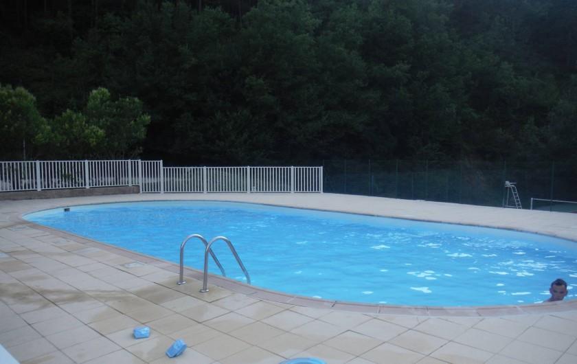 Location de vacances - Appartement à Digne-les-Bains - Piscine de la résidence . Transats fournis .