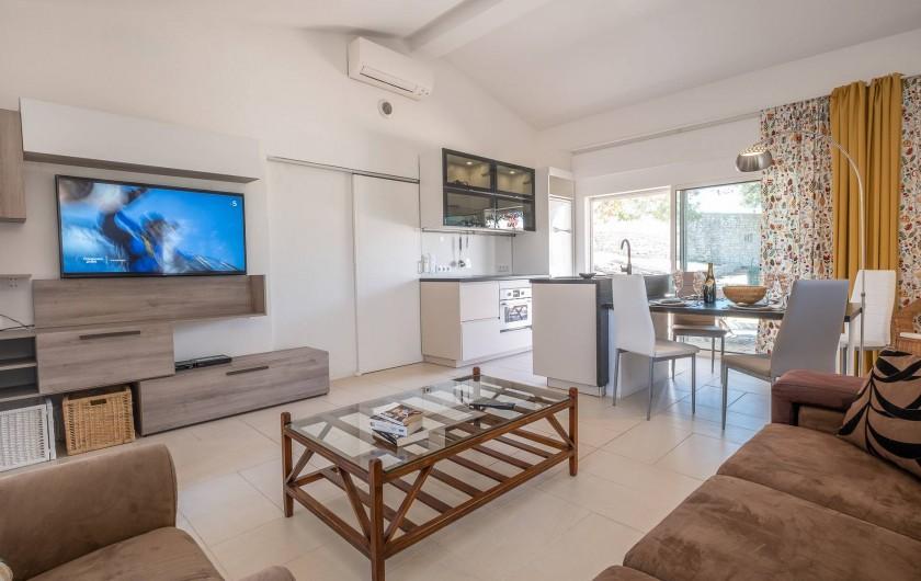 Location de vacances - Villa à Gorjões - Coin séjour