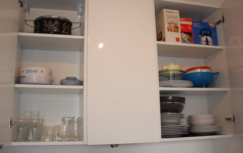 Location de vacances - Appartement à Bergame - cuisine bien équipée.